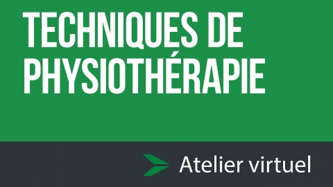 Techniques de physiothérapie - Atelier d'exploration virtuel