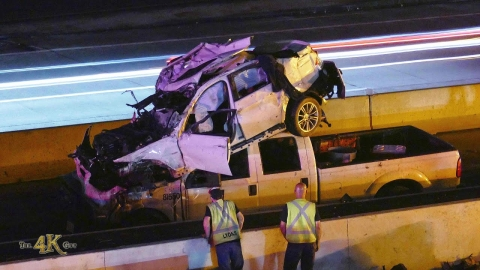 Mississauga: Strange crash leaves car oddly on...