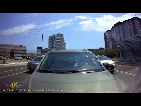 Richmond Hill: Car with back dashcam rear ended by inattentive driver...
