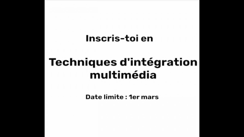 DEC   Techniques d'intégration multimédia