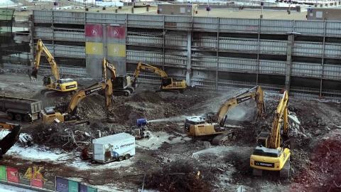 Montreal Airport multi-level parking lot demolition for $2.5 Billion...