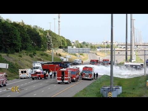 Brampton: Panther 6x6 airport crash tender at risky tanker rollover...
