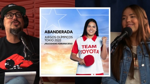 La forma que Adriana Diaz se entera que va a ser la abanderada en la...
