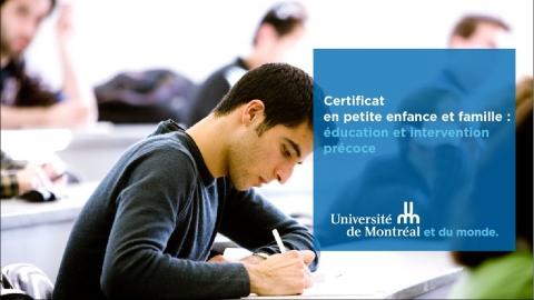 Certificat en petite enfance et famille : éducation et intervention...