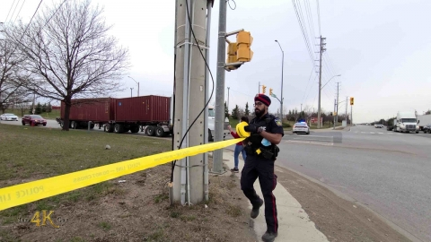 Brampton: Firetrucks and tow trucks rush to save trapped worker...