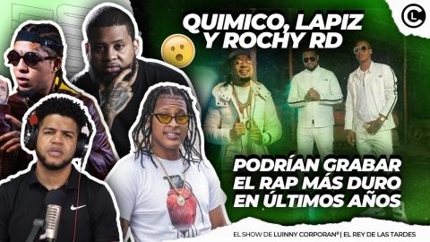 """QUIMICO, ROCHY RD Y LAPIZ """"PODRÍAN GRABAR UN RAP Y APAGAN EL..."""