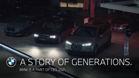 A story of generations. BMW is a part of CES 2021.