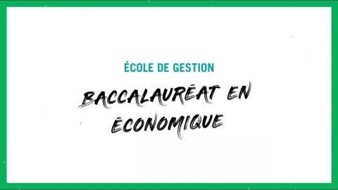 Baccalauréat en économique