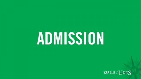 Cap sur l'Université de Sherbrooke - Admission