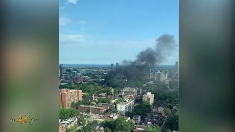 Toronto: Third alarm fire rips thru two houses at Gerrard and Ontario...
