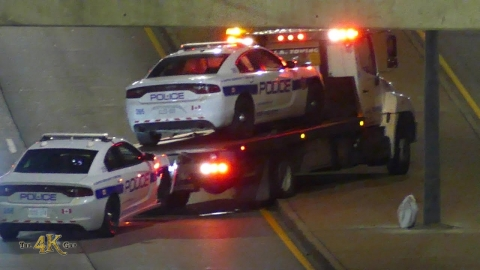 Brampton: Maniac driver rams PRP police car on Kennedy Road 11-20-2020