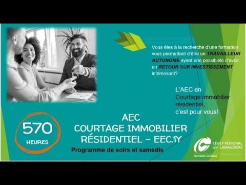 AEC | Courtage immobilier résidentiel (soir)