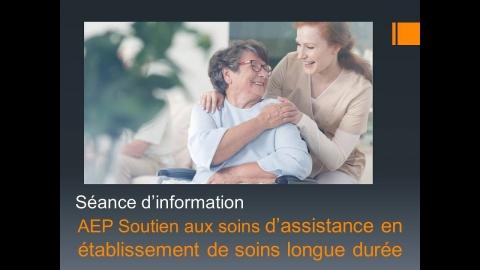 AEP   Soutien aux soins d'assistance en établissement de soins de...