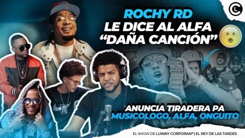 """ROCHY RD LE DICE AL ALFA """"EL JEFE"""" CANTA MALO Y DAÑA DISCO. LE..."""