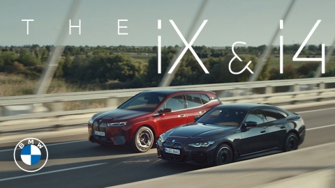 """""""The power of action."""" The first-ever BMW iX and the first-ever..."""