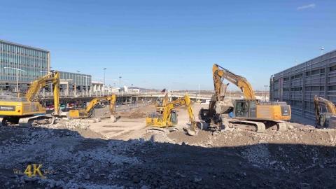 Montréal YUL airport final stage of demolition...