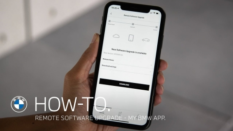 Download and install a Remote Software Upgrade with your My BMW App...