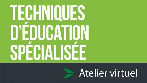 Techniques d'éducation spécialisée  - Atelier d'exploration virtuel
