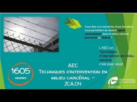 AEC | Techniques d'intervention en milieu carcéral