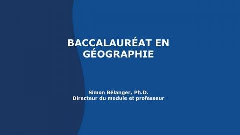 Baccalauréat en géographie