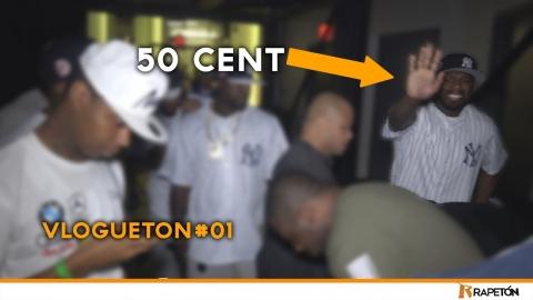A 50 Cent no le gustó las luces de Rapetón en la cara (Vlogueton...