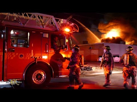 Etobicoke: Raging 5th alarm inferno at baking factory part one...